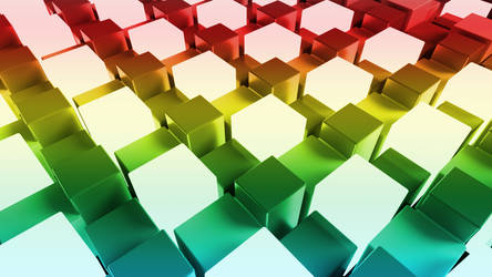 Abstract 3D Colour Cubes