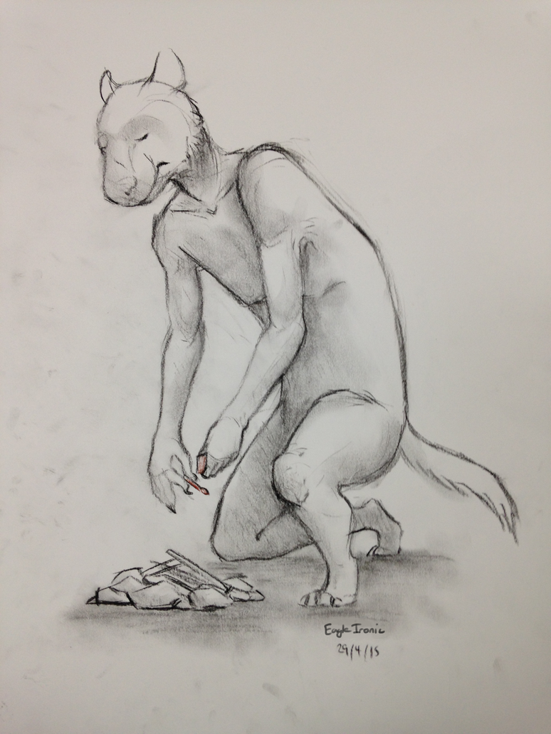 Melancholy Tasmanian Devil by EagleIronic