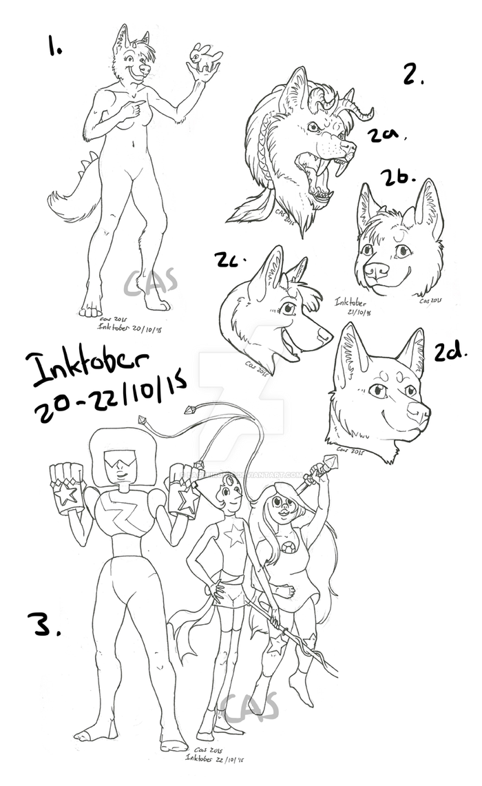 Inktober Sketches 20-22/10/15 by EagleIronic