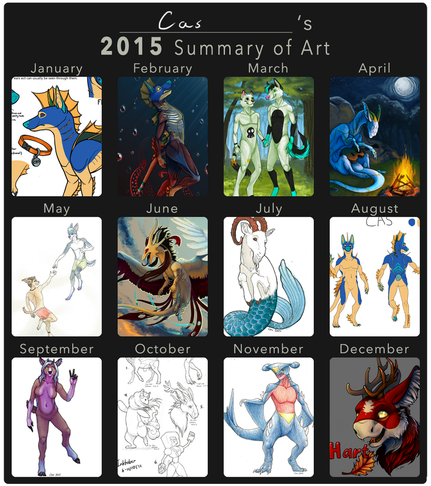 Cas' 2015 Summary of Art by EagleIronic