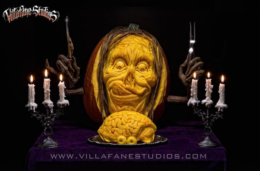 Zombie Pumpkin Carving by EvilNinjaChris