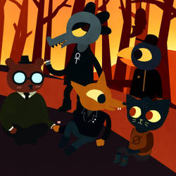 A Comforting Reunion - Night in The Woods by Someday-Tokay