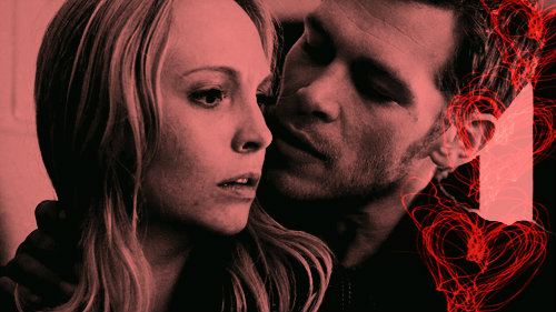 Caroline Forbes and Klaus by JanetAnn