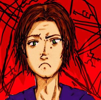 Colored: Sam's bitch face