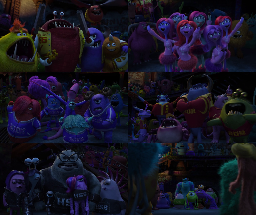 Monsters University Scare Teams by dlee1293847 on DeviantArt