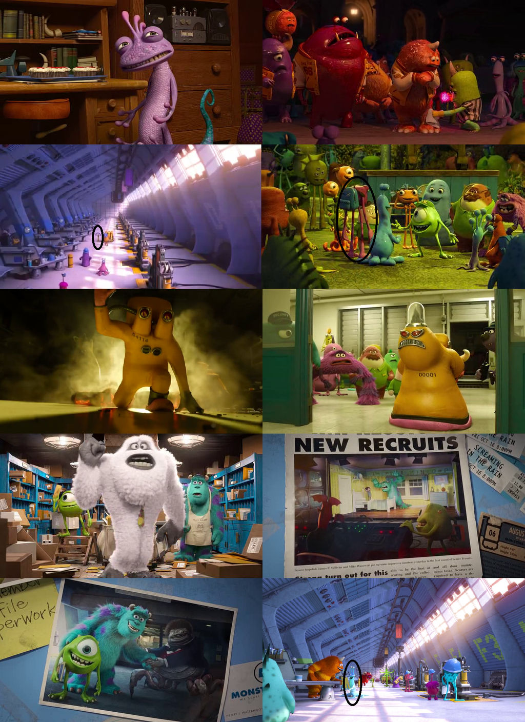 Monsters Inc Characters In Monsters University By Dlee1293847 On Deviantart