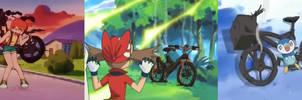 Pikachu Ruins The Girls Bikes (Pokemon)