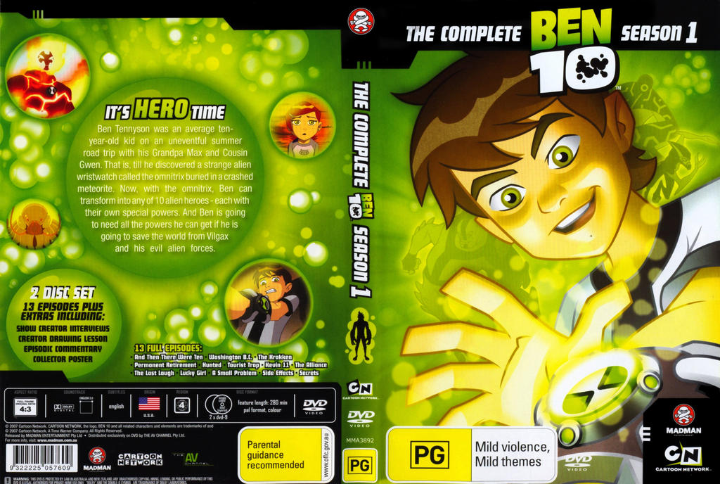 Ben 10 Season 2 Dvd Original Series Front And Back By – Fondos de