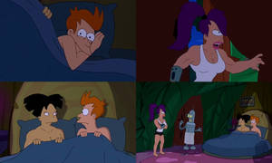 Futurama - Leela Finds Amy In Bed With Fry by dlee1293847