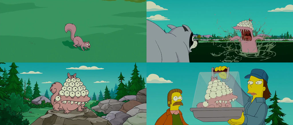 The Simpsons Movie Squirrel Into Mutant Squirrel By Dlee1293847 On Deviantart