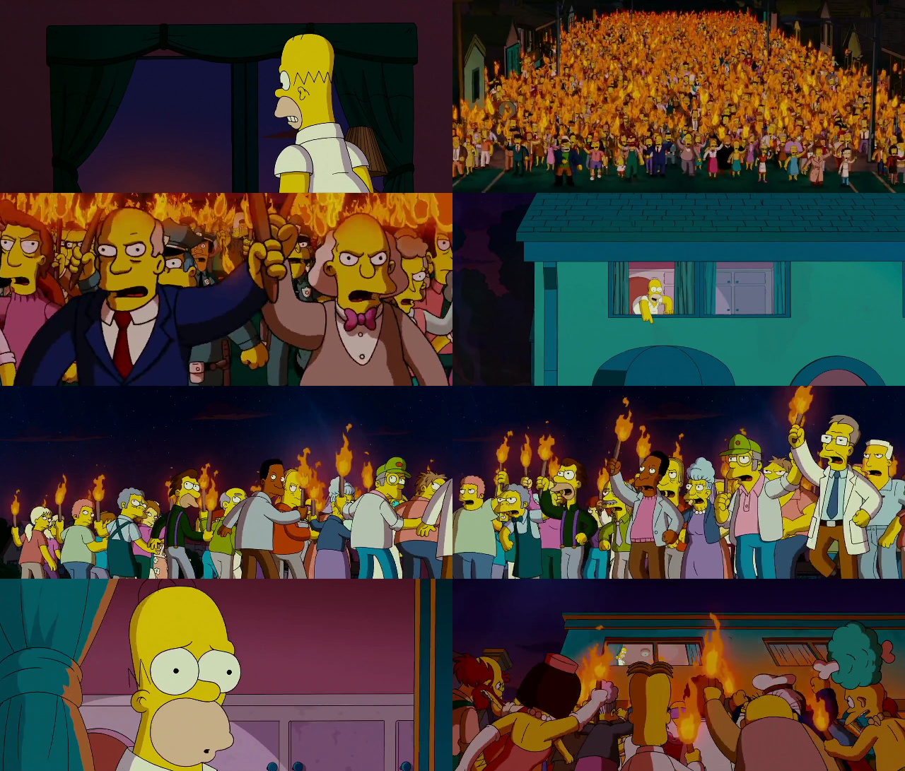 The Simpsons Movie The Angry Mob By Dlee1293847 On Deviantart