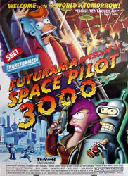 Futurama Space Pilot 3000 Poster by dlee1293847
