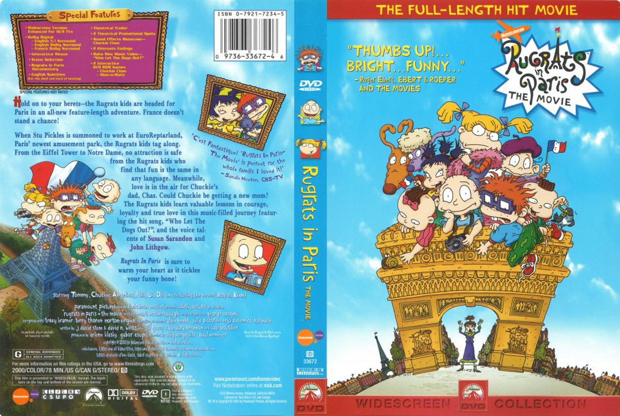 Rugrats In Paris Dvd Cover By