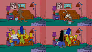 The Simpsons - Wile E. Coyote Couch Gag