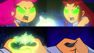 Teen Titans Go vs Teen Titans - Thumb War Scene
