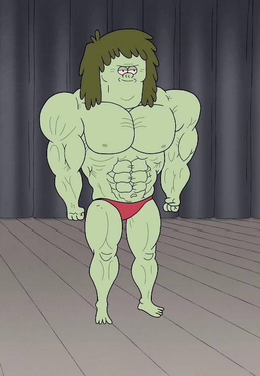The Regular Show Muscle Man