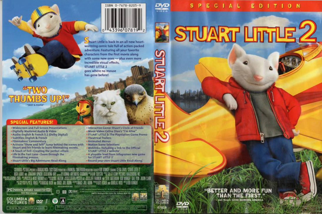 Stuart Little 2 Dvd Cover Front And Back By Dlee1293847 On Deviantart