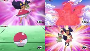 Pokemon - Iris catches a Dragonite