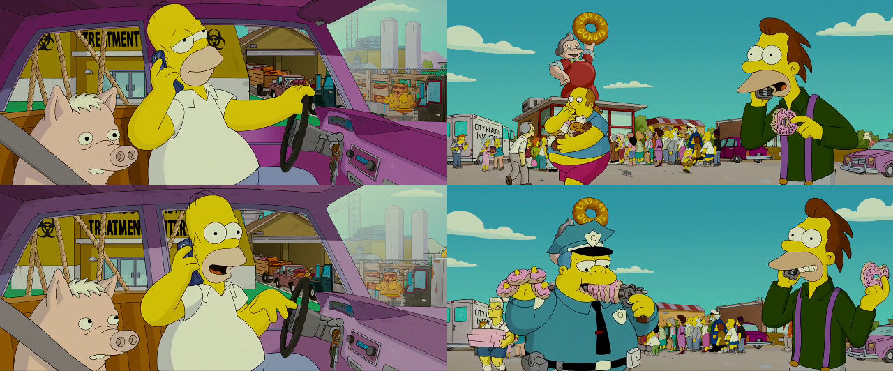 The Simpsons Movie Free Donuts By Dlee1293847 On Deviantart