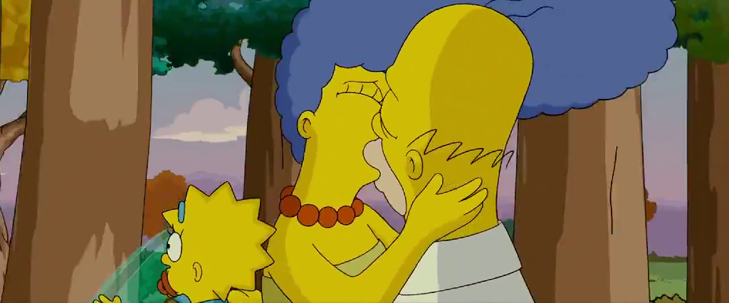 The Simpsons Movie Homer And Marge Kiss By Dlee1293847 On Deviantart