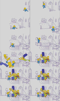 Harold and the Purple Crayon Couch Gag (Simpsons)