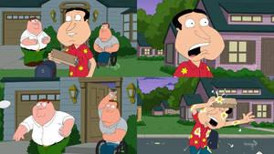Family Guy - Peter and Joe Throw Eggs at Quagmire