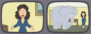Family Guy - Julia Louis-Dreyfus and Elephant