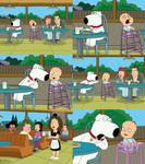 Family Guy - Brian Yells at Baby at Denny's