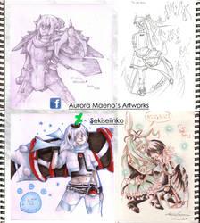 Elsword sketches by Sekiseiinko