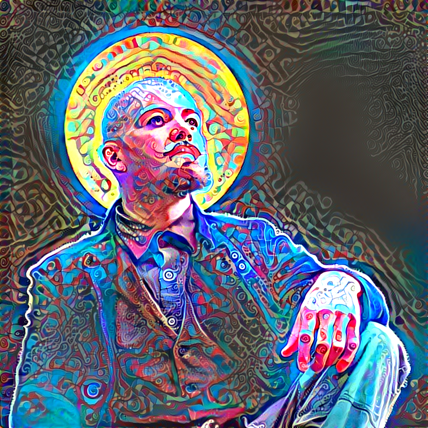 Deep neural self portrait #2 by dynastes