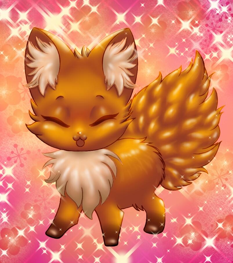 Chibi Fox Speedpaint by Jack-Wabbit