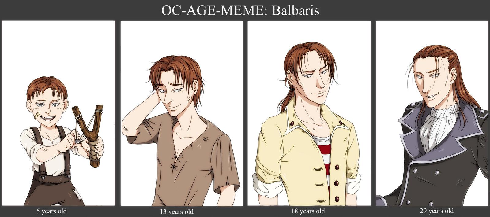 OC Age Meme: Balbaris by Eninaj27