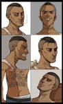 Commission: Noah - sketchy portrait sheet