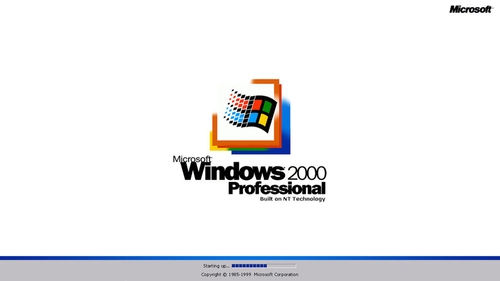 Windows 2000 Boot Screen Remake - center variant by TheMorc