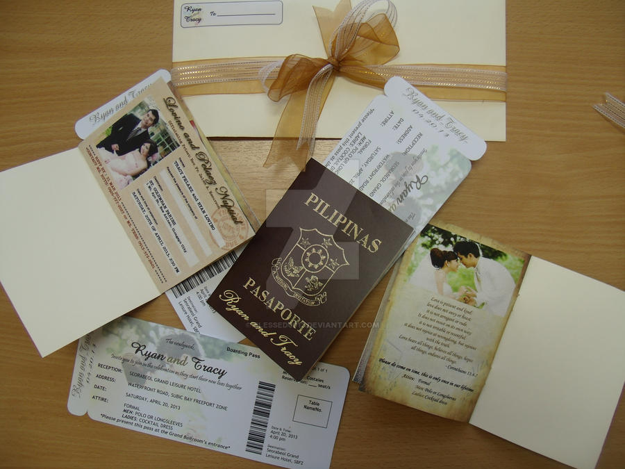 Passport and Boarding Pass Wedding Invitations by blessed0913 on ...
