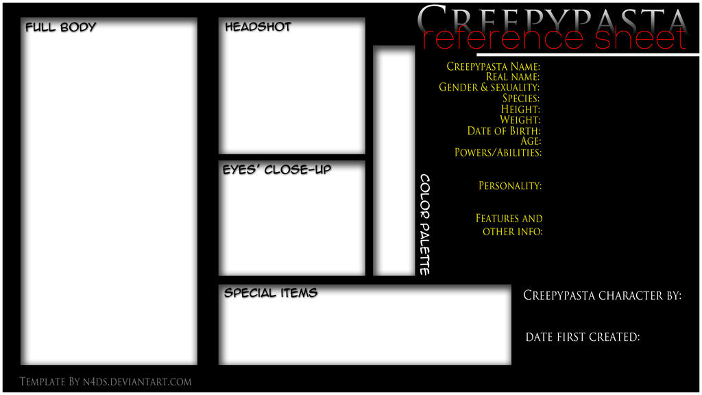 Sponsor sheet templates