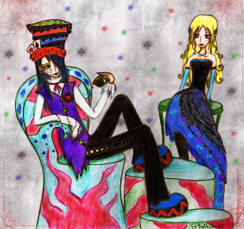 Alice and Hatter by Yuli-Ya