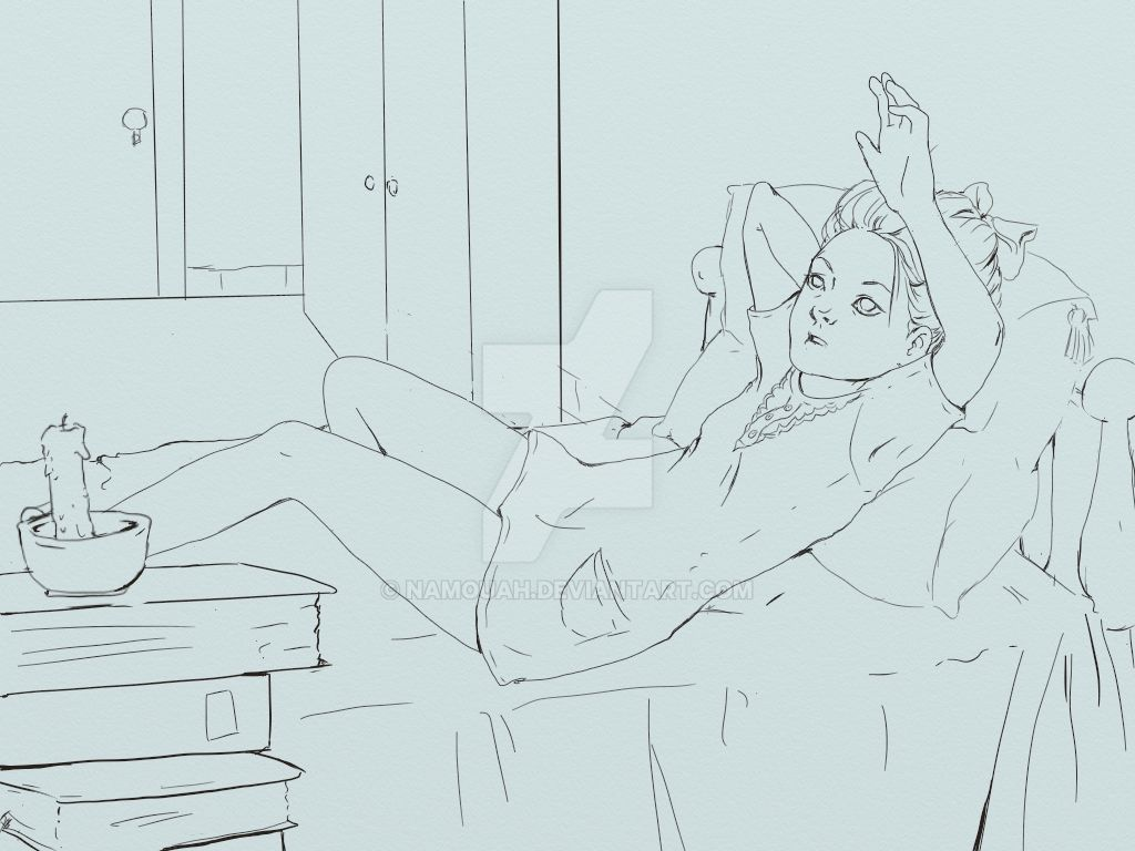Beyond This Room -lineart- by Namouah