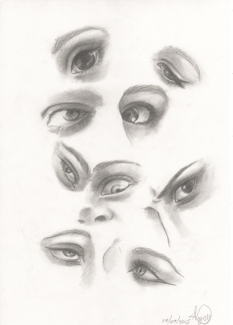 Eyes study by Namouah