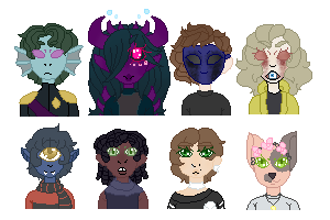 Tiny Pixel bunch by Fr0g-Prince