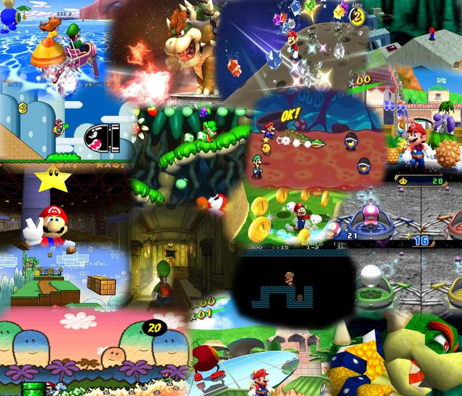 Super Mario Theme Background by Toxic-Mario on DeviantArt