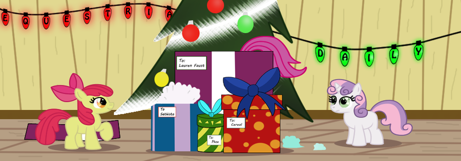 Equestria Daily Christmas Banner by Toxic-Mario