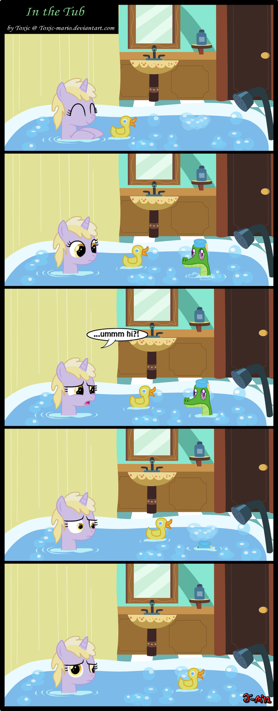 In the Tub by Toxic-Mario