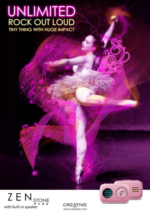 Pink Ballerina by sqak