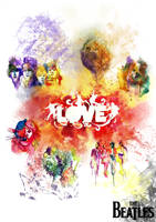 The beatles in colourful by sqak