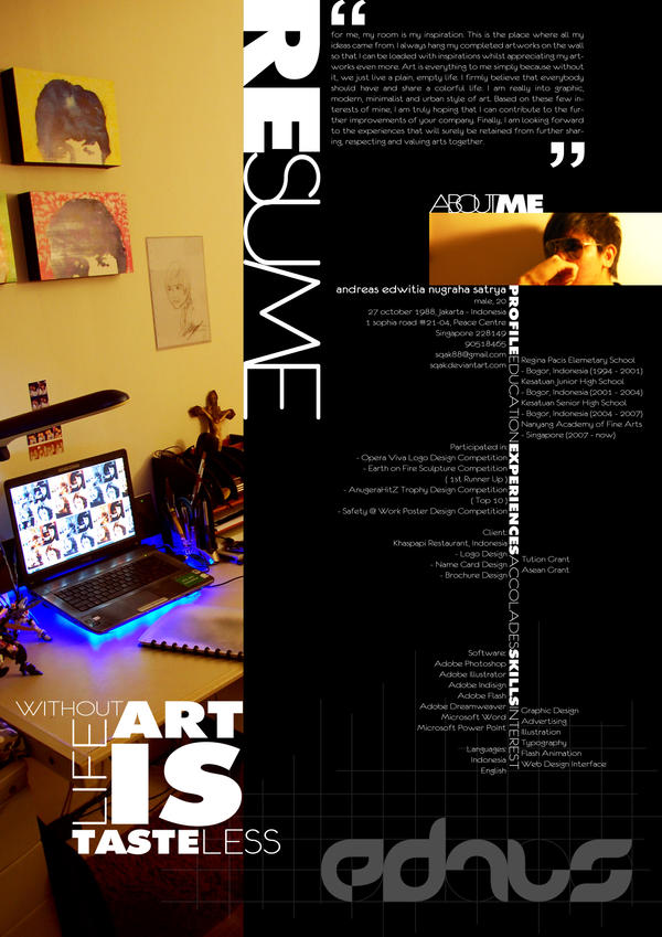 Resume Layout Design by sqak