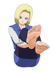 Android 18 and her delicious soles again