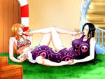 Nami And Boa Worshipping Each others Feet!