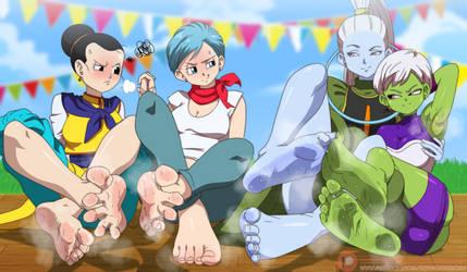 Bulma And Chi Chi Vs Vados And Chirai Best feet! by Kazutheking