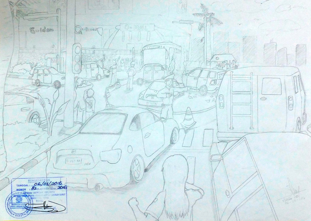 Traffic Accident Sketch by apielang on DeviantArt